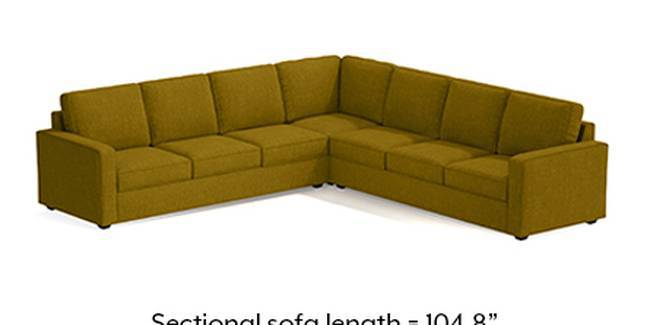 Apollo Sofa Set (Olive Green, Fabric Sofa Material, Compact Sofa Size, Soft Cushion Type, Corner Sofa Type, Corner Master Sofa Component)