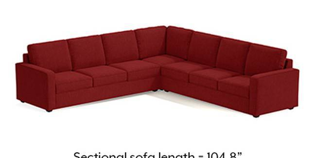 Apollo Sofa Set (Fabric Sofa Material, Compact Sofa Size, Soft Cushion Type, Corner Sofa Type, Corner Master Sofa Component, Salsa Red, Regular Back Type, Regular Back Height)