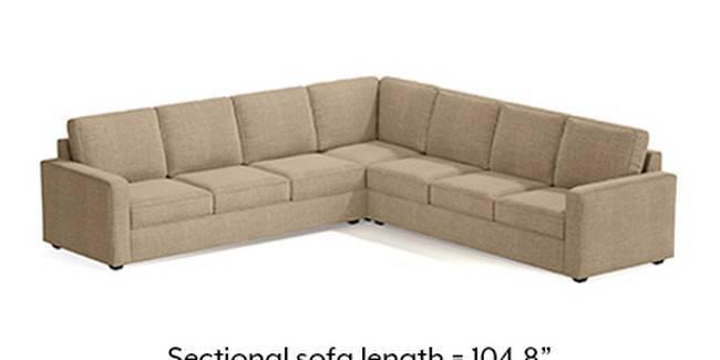 Apollo Sofa Set (Fabric Sofa Material, Compact Sofa Size, Soft Cushion Type, Corner Sofa Type, Corner Master Sofa Component, Sandshell Beige)
