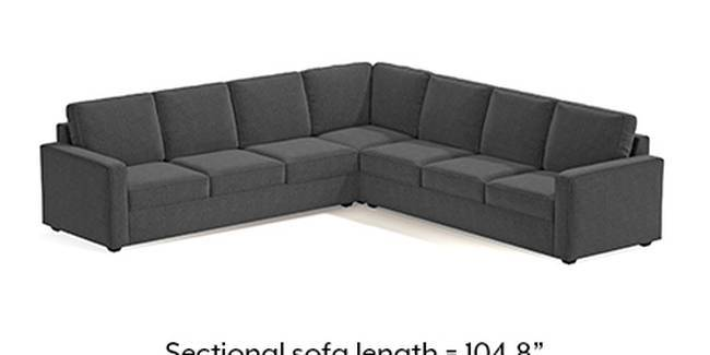 Apollo Sofa Set (Steel, Fabric Sofa Material, Compact Sofa Size, Soft Cushion Type, Corner Sofa Type, Corner Master Sofa Component, Regular Back Type, Regular Back Height)