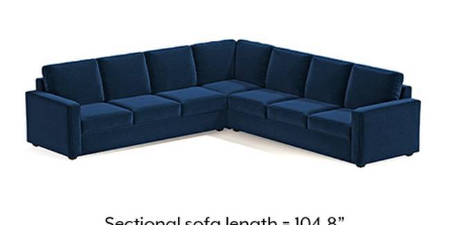 Apollo Sofa Set (Cobalt, Fabric Sofa Material, Compact Sofa Size, Soft Cushion Type, Corner Sofa Type, Corner Master Sofa Component, Regular Back Type, Regular Back Height)