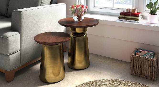 Ebisu Side Table (Brass, Large Size) by Urban Ladder