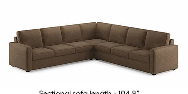 Apollo Sofa Set (Dune, Fabric Sofa Material, Compact Sofa Size, Soft Cushion Type, Corner Sofa Type, Corner Master Sofa Component, Regular Back Type, Regular Back Height)