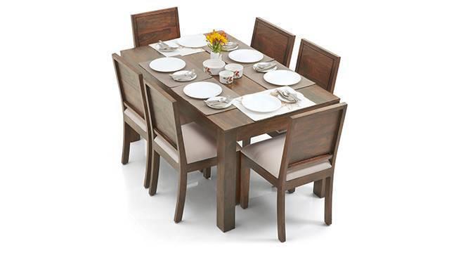 Arabia-Oribi 6 Seater Dining Table Set (Teak Finish) by Urban Ladder