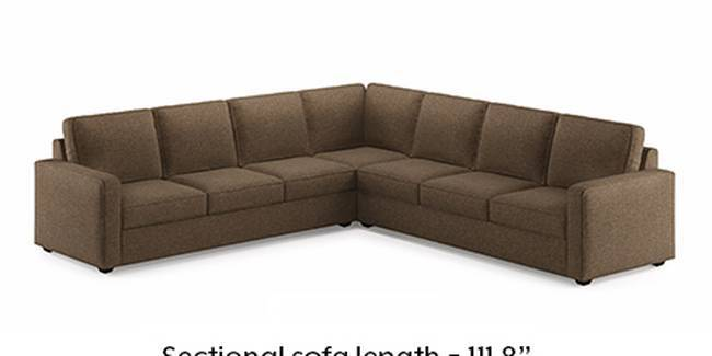 Apollo Sofa Set (Dune, Fabric Sofa Material, Regular Sofa Size, Soft Cushion Type, Corner Sofa Type, Corner Master Sofa Component, Regular Back Type, Regular Back Height)