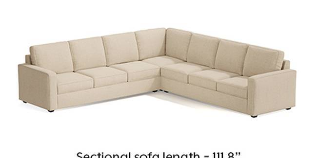 Apollo Sofa Set (Pearl, Fabric Sofa Material, Regular Sofa Size, Soft Cushion Type, Corner Sofa Type, Corner Master Sofa Component, Regular Back Type, Regular Back Height)
