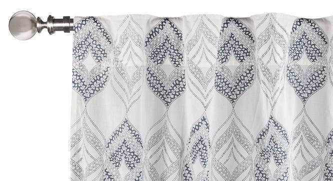 "Basra Curtain - Set Of 2 (Blue, Door Curtain Type, 54"" x 108"" Curtain Size) by Urban Ladder"