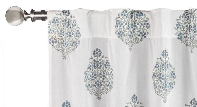 """Kalina Curtain - Set Of 2 (Blue, Window Curtain Type, 54"""" x 60"""" Curtain Size) by Urban Ladder"""