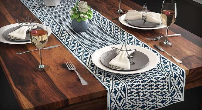 Basra Table Linen Set (Blue) by Urban Ladder
