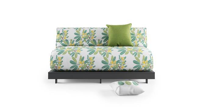 Finn Double Futon Sofa Cum Bed Without Square Cushion (Frangipani Summer Blooms) by Urban Ladder