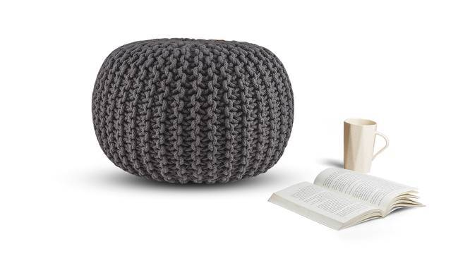 Carmen Pouffe (Grey) by Urban Ladder