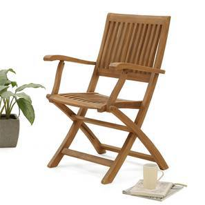 Carrillo Folding Armchair (Teak Finish) by Urban Ladder