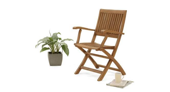 Carrillo Folding Armchair (Teak Finish) by Urban Ladder