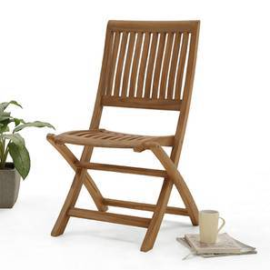 Carrillo Folding Chair (Teak Finish) by Urban Ladder