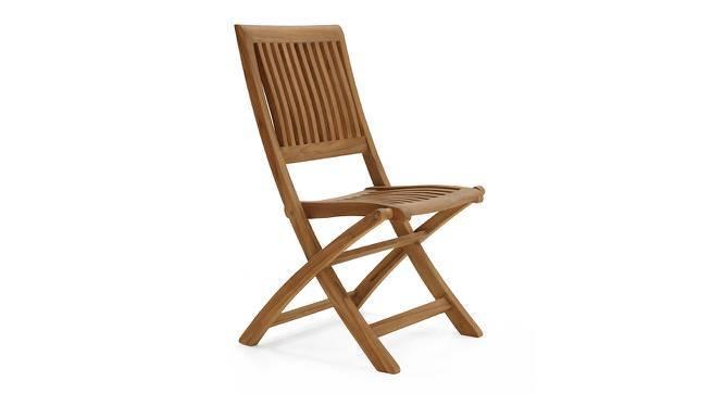 Carrillo Folding Chair (Teak Finish) by Urban Ladder