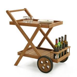 Patara Serving Trolley (Teak Finish) by Urban Ladder