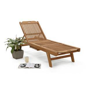 Balos Lounger (Teak Finish) by Urban Ladder