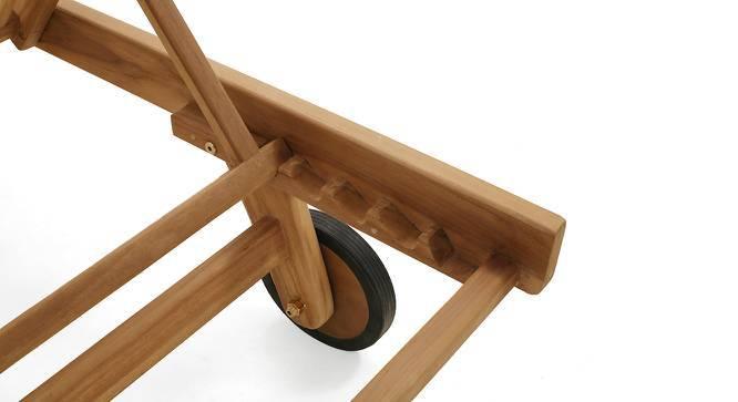 Balos Lounger (Teak Finish) by Urban Ladder
