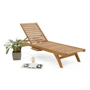 Minitas Sun Lounger (Teak Finish) by Urban Ladder