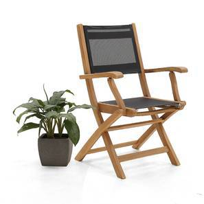 Tellaro Folding Armchair (Teak Finish) by Urban Ladder