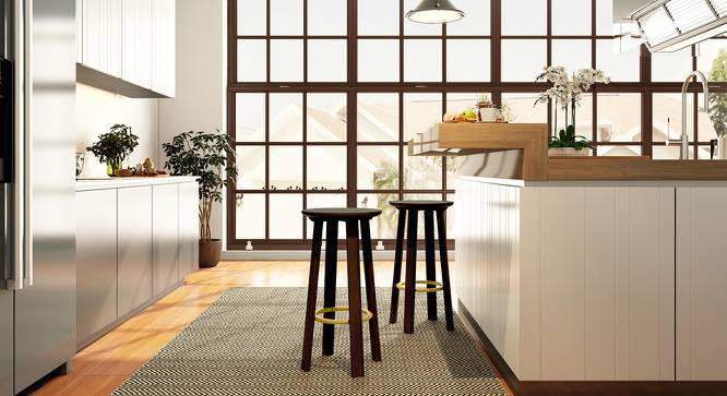 Orbis Breakfast High Stool - Set Of 2 (American Walnut Finish) by Urban Ladder