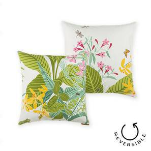 "Secret Garden Cushion Covers - Set Of 2 (18"" X 18"" Cushion Size, Frog  Pattern) by Urban Ladder"