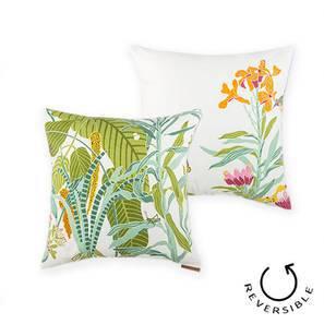 "Secret Garden Cushion Covers - Set Of 2 (18"" X 18"" Cushion Size, Wild Grass Pattern) by Urban Ladder"