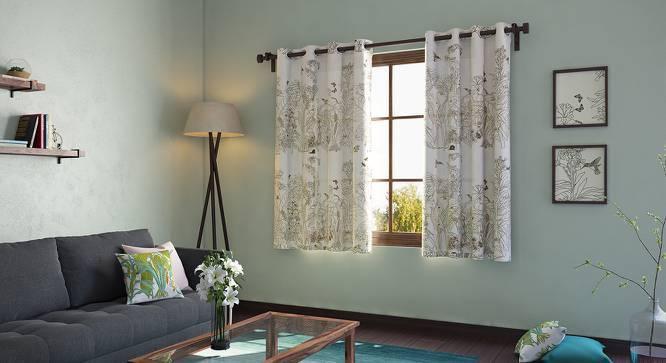 "Secret Garden Window Curtains - Set Of 2 (54"" x 60"" Curtain Size, Contour ) by Urban Ladder"