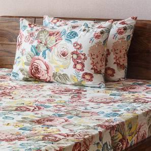 Floral Fiesta Bedsheet Set (King Size, Pastel Bloom Pattern) by Urban Ladder