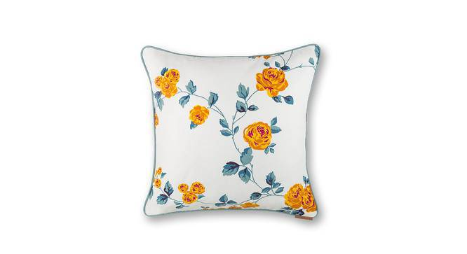 """Floral Fiesta Cushion Cover - Set Of 2 (18"""" X 18"""" Cushion Size, Wild Rose Pattern) by Urban Ladder"""