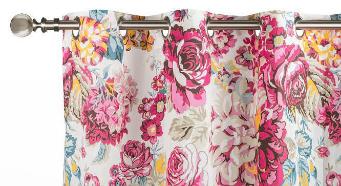 """Floral Fiesta Door Curtains - Set Of 2 (54"""" x 108"""" Curtain Size, Full Bloom) by Urban Ladder"""