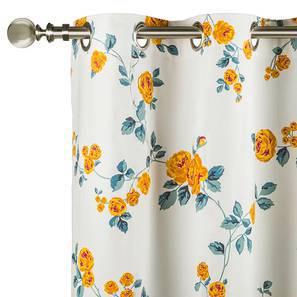 "Floral Fiesta Door Curtains - Set Of 2 (54""x84"" Curtain Size, Wild Rose) by Urban Ladder"