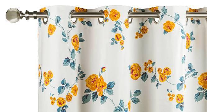 "Floral Fiesta Door Curtains - Set Of 2 (54"" x 108"" Curtain Size, Wild Rose) by Urban Ladder"