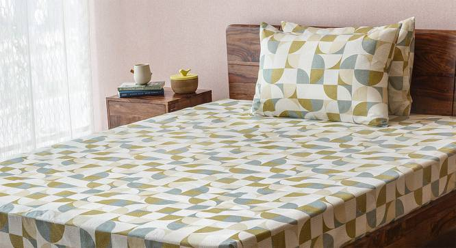Colour Block Bedsheet Set (King Size, Curves & Lines  Pattern) by Urban Ladder