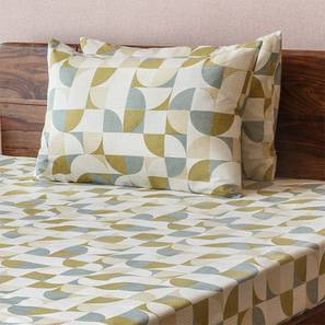 Colour Block Bedsheet Set (Double Size, Curves & Lines  Pattern) by Urban Ladder