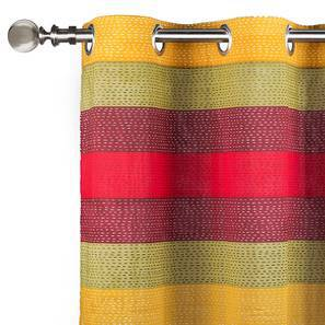 "Colour Block Door Curtains - Set Of 2 (54""x84"" Curtain Size, Stripes ) by Urban Ladder"