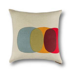 "Colour Block Cushion Covers - Set Of 2 (16"" X 16"" Cushion Size, Overlay Pattern) by Urban Ladder"