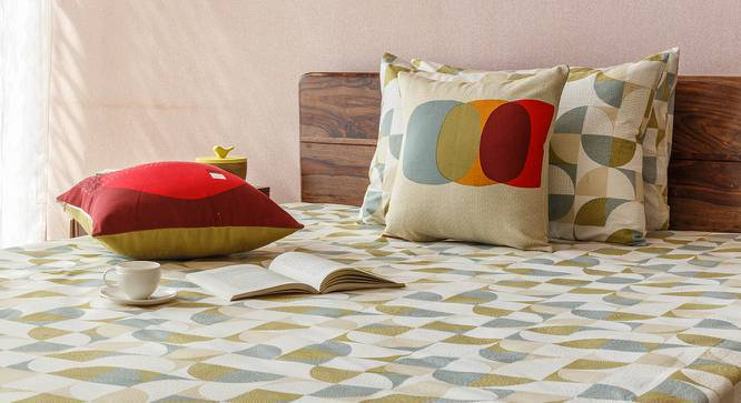"""Colour Block Cushion Covers - Set Of 2 (16"""" X 16"""" Cushion Size, Overlay Pattern) by Urban Ladder"""
