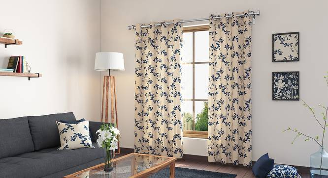 "Botanical Blueprint Door Curtains - Set Of 2 (54"" x 108"" Curtain Size, Branch) by Urban Ladder"