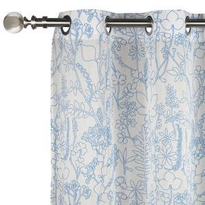 "Botanical Blueprint Door Curtains - Set Of 2 (54""x84"" Curtain Size, Imprint) by Urban Ladder"
