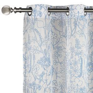 "Botanical Blueprint Door Curtains - Set Of 2 (54""x84"" Curtain Size, Imprint) by Urban Ladder"