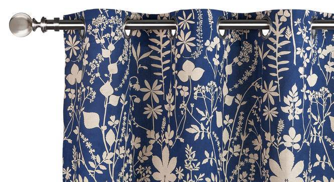 "Botanical Blueprint Door Curtains - Set Of 2 (54""x84"" Curtain Size, Spring) by Urban Ladder"