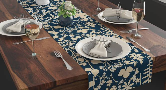 Botanical Blueprint Table Runner (Branch & Spring Pattern) by Urban Ladder