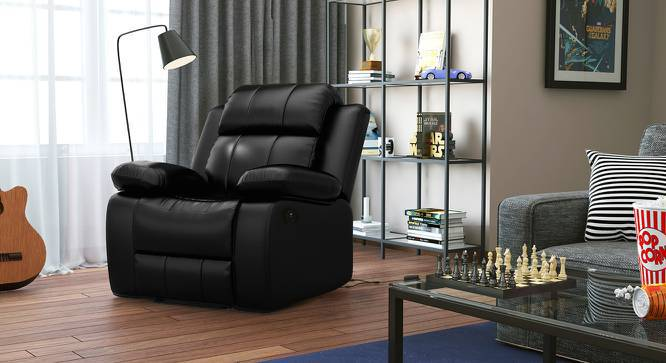 Robert Motorized Recliner (Black Leatherette) by Urban Ladder