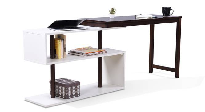Tolstoy - Charles Study Set (Black, Dark Walnut Finish) by Urban Ladder
