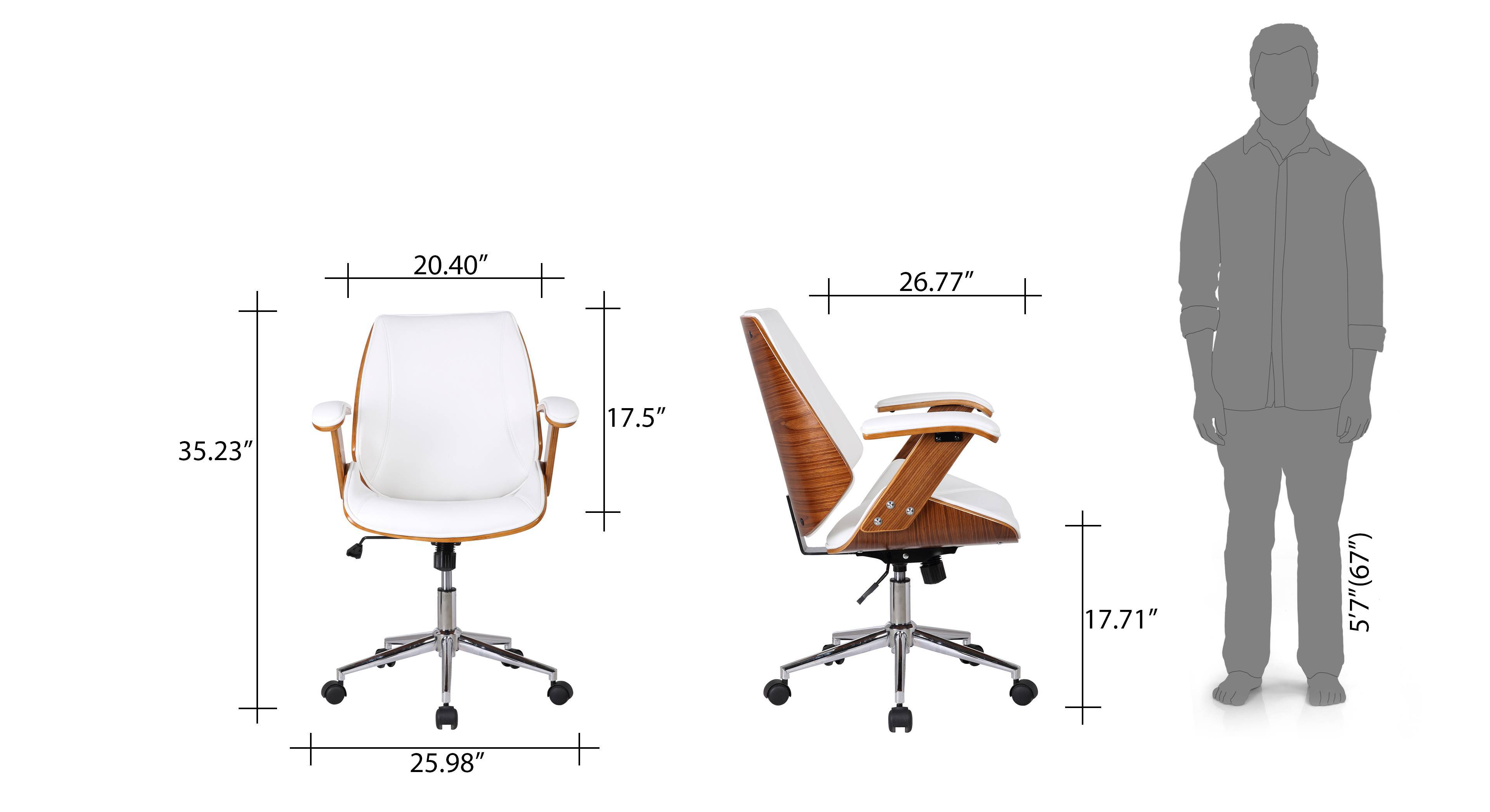 Ray study chair white 16