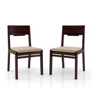 Kerry Dining Chairs - Set Of 2 (Mahogany Finish, Wheat Brown) by Urban Ladder