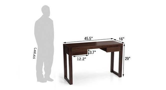 Austen compact desk mahogany 8