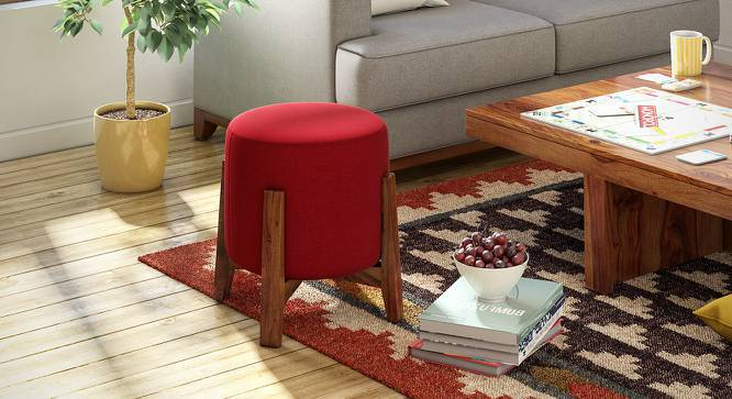 Nicole stool (Red, None Pattern) by Urban Ladder