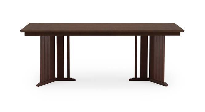 Angus 6 seater Dining Table (Walnut Finish) by Urban Ladder